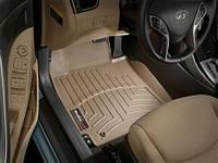 Коврики салона 1 ряд с бортами бежевые Hyundai Elantra 2013-on