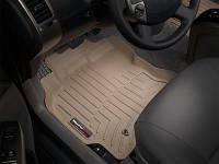 Коврики салона 1 ряд с бортами бежевые Weathertech Ford Focus 2014-on