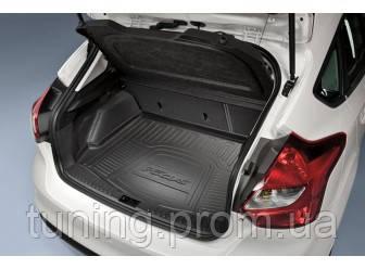 Коврик багажника резиновый с лого оригинал для 5-дверного Ford Focus 2014-on