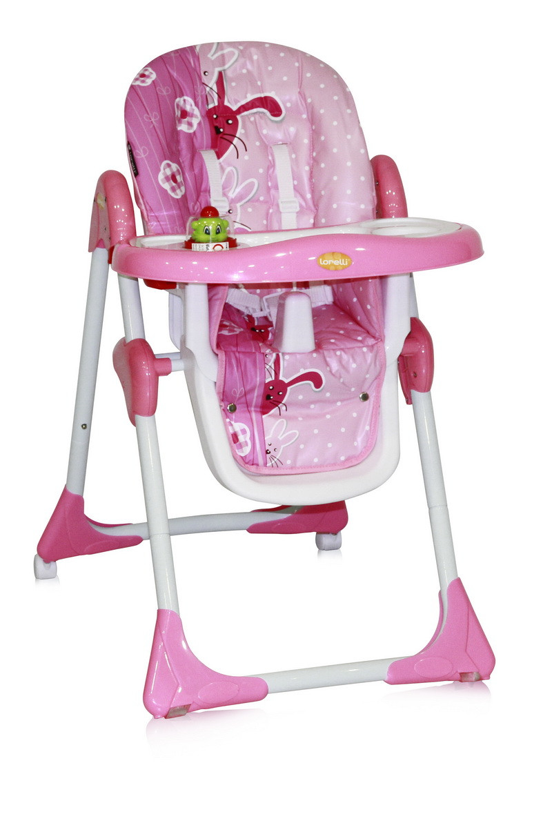 Стульчик для кормления Lorelli YAM YAM Pink Rabbits