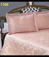 Атласное покрывало Hanibaba 240 х 260 см + 2 наволочки- Супер ХИТ! розовое