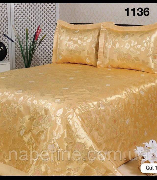 Атласное покрывало Hanibaba 240 х 260 см + 2 наволочки- Супер ХИТ! - Na perine - интернет-магазин постельного белья и домашнего текстиля в Одессе