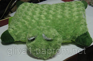 Подушка мягкая игрушка на липучке Лягушка Лягушка