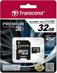 Карта памяти transcend microsdhc 32 gb class 10 uhs-i premium (ts32gusdu1)