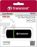 Картридер transcend ts-rdp5 5-in-1 usb 2.0 черный