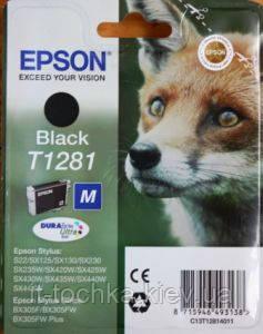 Черный картридж epson t1281 (c13t12814011) black - it-точка - магазин удобных покупок для дома и работы в Киеве