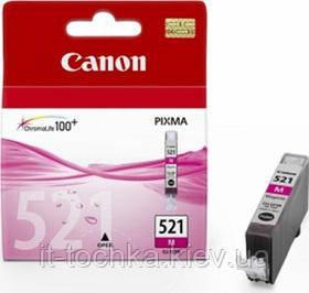 Пурпурный картридж canon cli-521m magenta (2935b004) - it-точка - магазин удобных покупок для дома и работы в Киеве