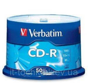 Диск verbatim cd-r 700 mb 52x cake 50 штук extra (43351)