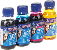Комплект чернил WWM Epson Electra Black, Cyan, Magenta, Yellow, 100 мл (ELECTRA/SET.4-2)