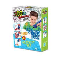 Набор для детского творчества с 3D-маркером - ЗООПАРК (3D-маркер - 2 шт, шаблон, аксессуары). Арт. 155249