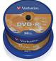 Диск verbatim dvd-r 4,7 Гб 16x cake 50 шт. (43548)