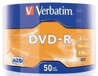 Диск verbatim dvd-r 4.7 Гб 16x bulk 50 штук