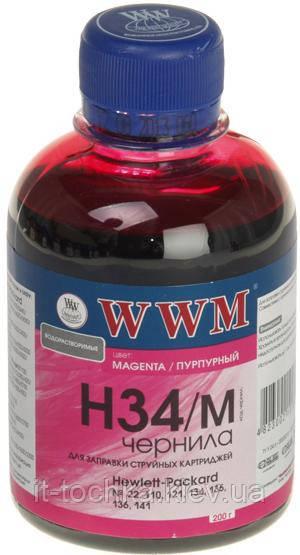 Чернила wwm h34m magenta для hp 22/134/121 200 гр