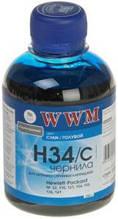 Чернила wwm h34c cyan для hp 22/122/121 200 гр