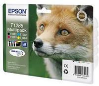 Экономный комплект картриджей epson t1285 bundle черный и цветные (c13t12854012)