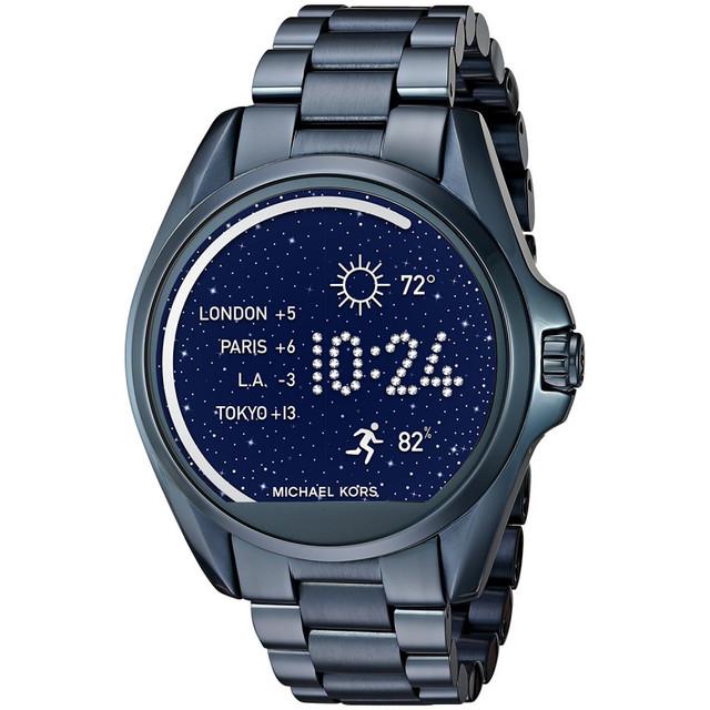 55d68423822d Часы Michael Kors Access Bradshaw Navy-Tone Smartwatch MKT5006, цена ...