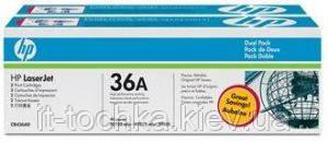Тонер картридж hp cb436af dual pack black lj p1505/m1120/1522