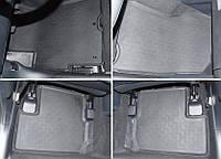 Коврики салона резиновые чёрные Mitsubishi Lancer X 2007-on