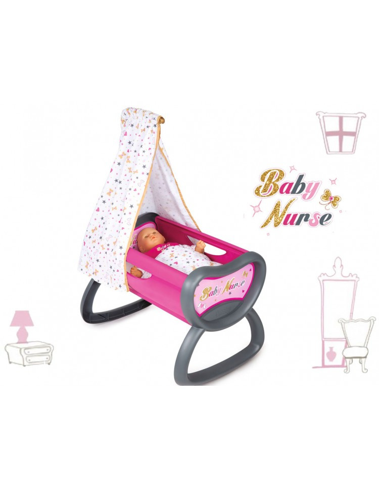 Кроватка для куклы Baby Nurse Smoby 220311