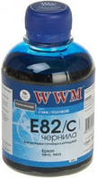 Голубые чернила wwm e82/c cyan для epson stylus photo r270/t50/tx650 200г