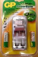Зарядное устройство gp powerbank mini quick+2xАА 2700mah (pb25gs270c2)