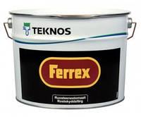 Грунт-эмаль TEKNOS FERREX антикоррозионная алкидная,цвет серый 1л