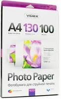 Фотобумага videx глянцевая 130 гр. А4*100 glossy