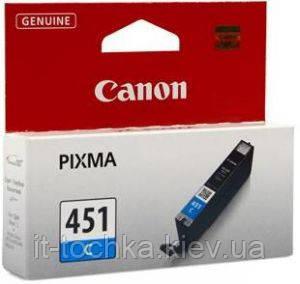 Голубой картридж canon cli 451c cyan (6524b001)