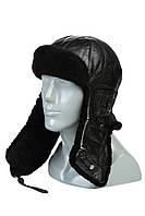 Шапка-шлем черный с длинными ушами, фото 1