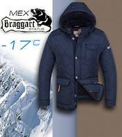 Стильная куртка стеганая с капюшоном зимняя