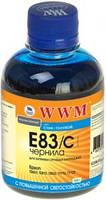 Чернила wwm e83 cyan для epson stylus photo t50/p50/px660, 200 гр (e83/c)