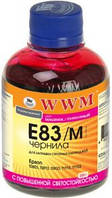 Чернила wwm e83 magenta для epson stylus photo t50/p50/px660, 200 гр (e83/m)