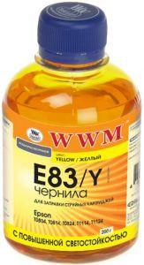 Чернила wwm e83 yellow для epson stylus photo t50/p50/px660, 200 гр (e83/y)