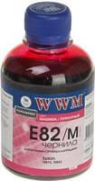 Чернила wwm e82m magenta для epson stylus photo r270/t50/tx650, 200г