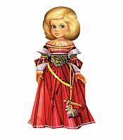 "Игровой набор из картона ""Кукла - наряжайка. Маскарад"" 059 УмБум"