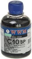 Чернила wwm c10/bp для canon pg-510bk/pg-512bk/pgi-520bk 200г black pigment