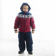 Детский зимний комбинезон (штаны на шлейках и куртка) с капюшоном Бенеттон Нью, новинка зима 2017