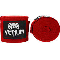 Боксерские бинты Venum Boxing Handwraps Red 4 м (EU-VENUM-0429)