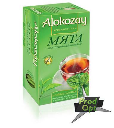 Чай Alokozay чорний з м`ятою 25 пакетів, фото 2