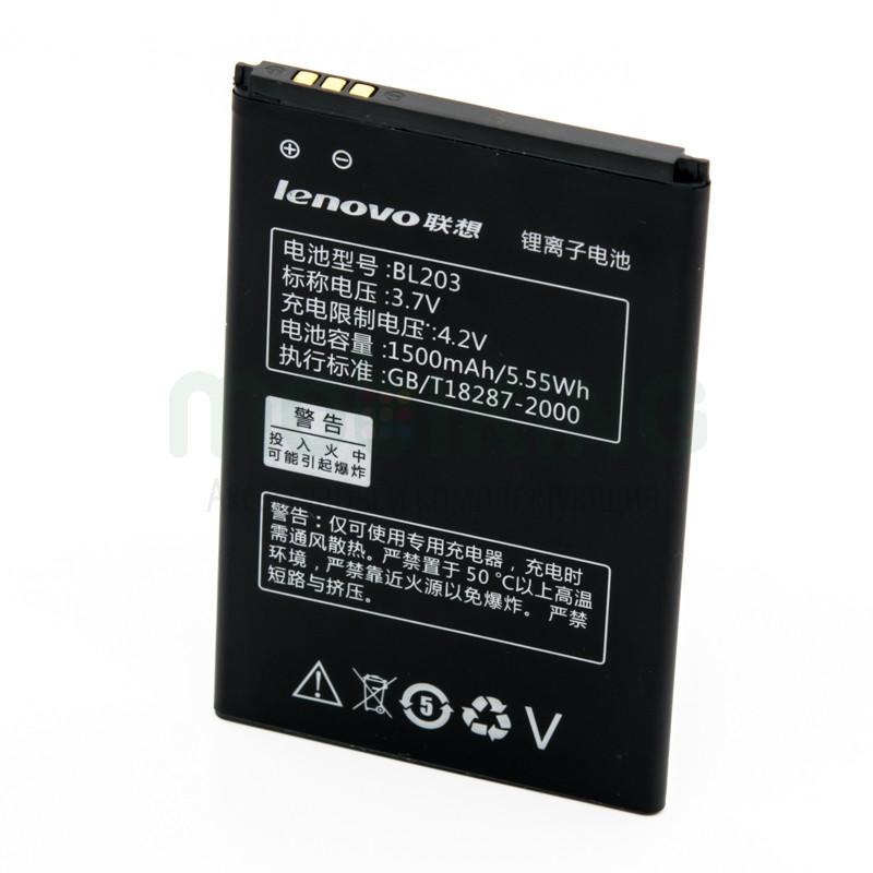 Оригинальная батарея Lenovo A308 (BL-203) для мобильного телефона, аккумулятор для смартфона.