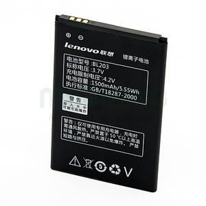 Оригинальная батарея Lenovo A208 (BL-203) для мобильного телефона, аккумулятор для смартфона.