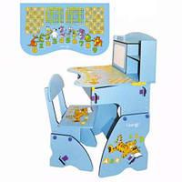 Детская регулируемая парта и стул (W 055)