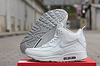 Мужские кожаные зимние кроссовки Nike Air Max 90 Sneakerboot