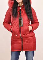 Полупальто женское из плащевки зимнее (цв.красный) MONIKA Размеры в наличии : 44,46,48,50,52,54,56 арт.401773