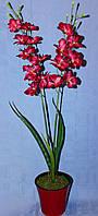 Вазон орхидея  искусственная цвет фуксия  утонченная