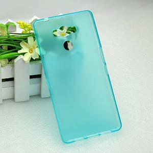 Чехол бампер для Elephone p9000 силиконовый голубой