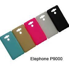 Чехол бампер для Elephone p9000 силиконовый золотой