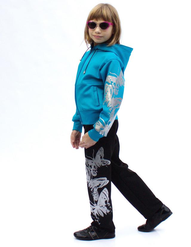Детский спортивный костюм для девочек и мальчиков Бабочки от украинского производителя фото teens.ua