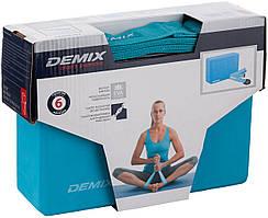 Набор для йоги (блок и ремень) D-931 Demix