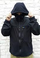 Куртка флисовая с капюшоном. 6 карманов. Липучки для шевронов и погона.